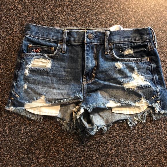 Hollister Pants - Distressed Denim Shorts - Hollister